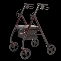 Image of Royal Deluxe Rollator - Red