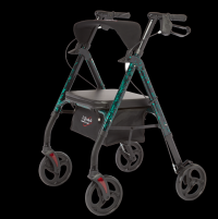 Image of Royal Deluxe Rollator - Green